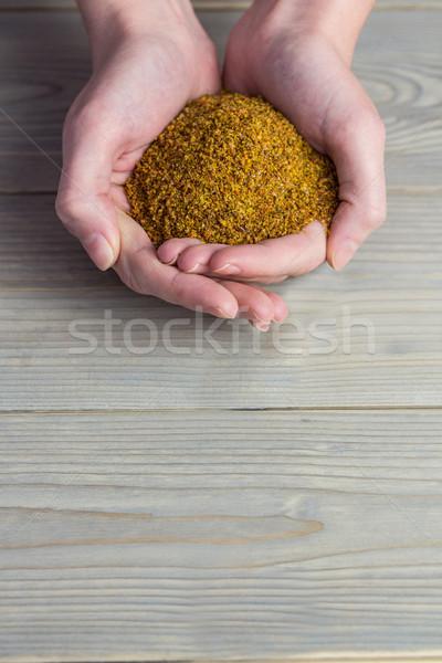 женщину семени рук таблице Сток-фото © wavebreak_media