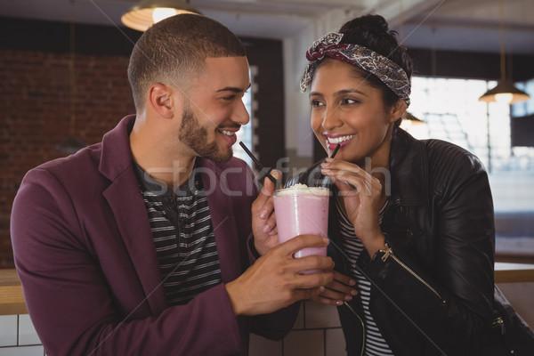 幸せ 友達 カフェ 小さな カウンタ ストックフォト © wavebreak_media