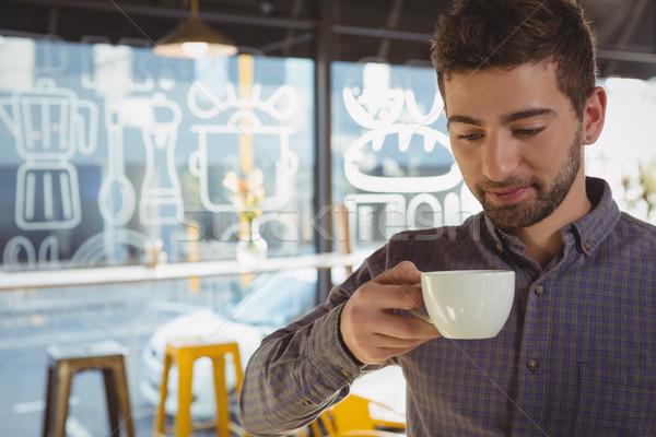 Businessman having coffee in cafe Stock photo © wavebreak_media
