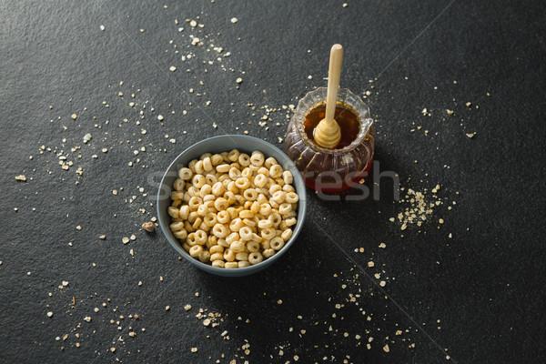 Honing kom granen ringen zwarte hand Stockfoto © wavebreak_media