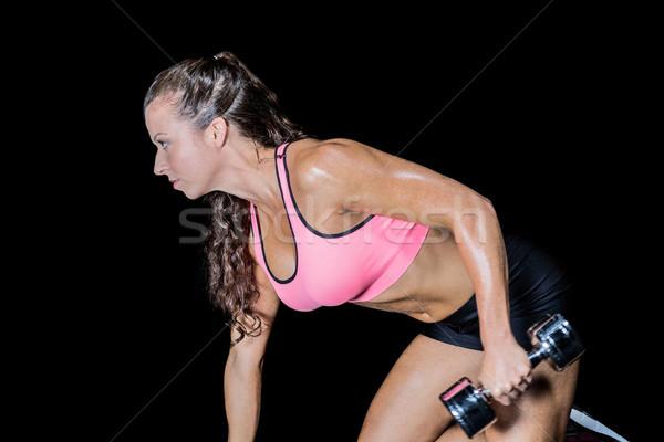 вид сбоку черный фитнес Сток-фото © wavebreak_media