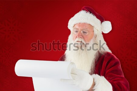 Дед Мороз открытие шкатулке удивление гостиной счастливым Сток-фото © wavebreak_media