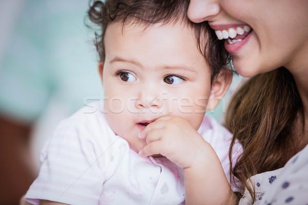 красивой ребенка матери домой семьи девушки Сток-фото © wavebreak_media
