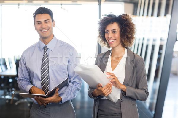 Photo stock: Gens · d'affaires · document · organisateur · bureau · affaires · réunion