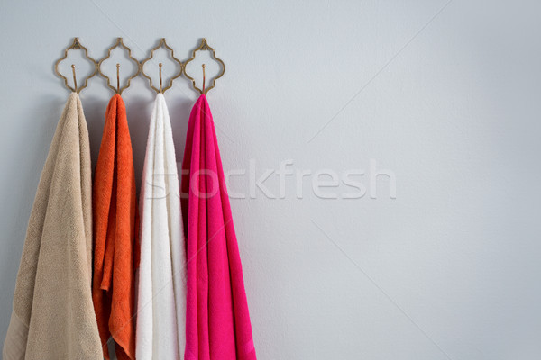 Colorful towels hanging on hook Stock photo © wavebreak_media