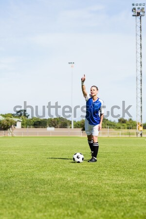 Excited football player celebrating after scoring the goal Stock photo © wavebreak_media