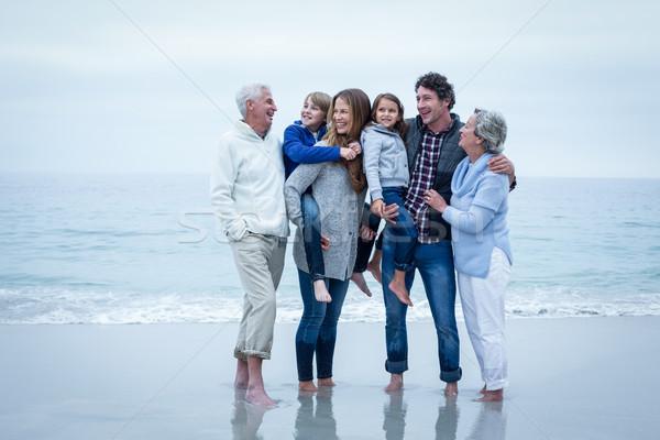 家族 立って 海 海岸 空 ストックフォト © wavebreak_media