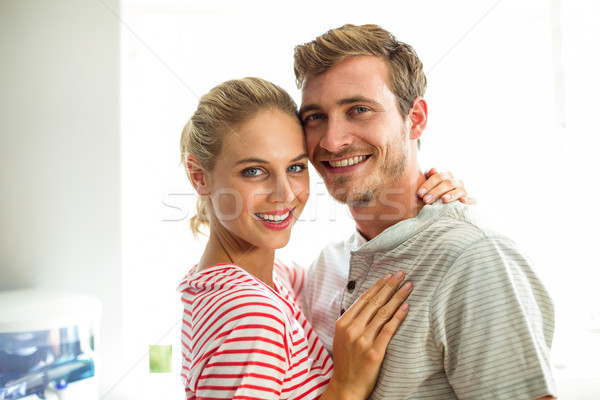 Portrait of smiling couple in kitchen Stock photo © wavebreak_media