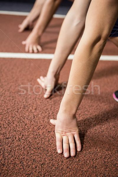 запустить готовый положение спортзал стороны здоровья Сток-фото © wavebreak_media