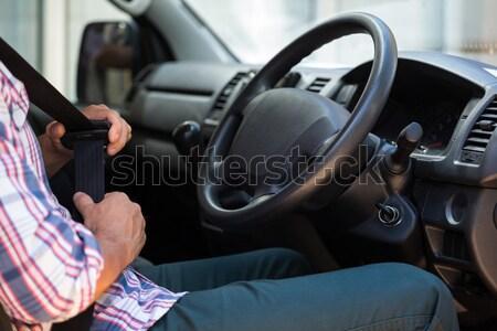 男 座席 ベルト 車 安全 座って ストックフォト © wavebreak_media