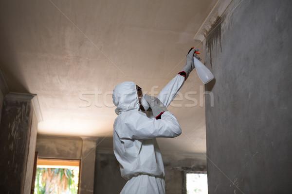 Foto stock: Hombre · pared · casa · seguridad · masculina