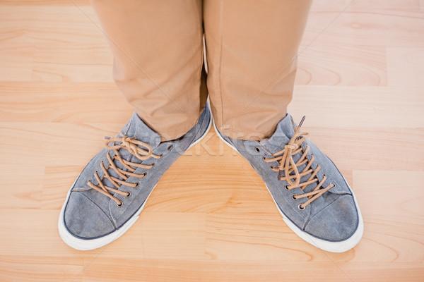 Stóp płótnie buty człowiek moda Zdjęcia stock © wavebreak_media