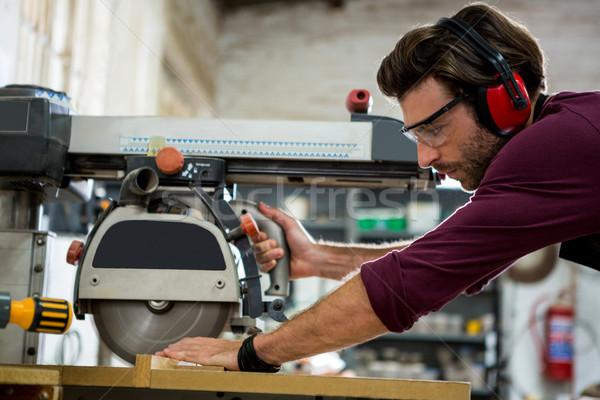 Carpenter working on his craft Stock photo © wavebreak_media