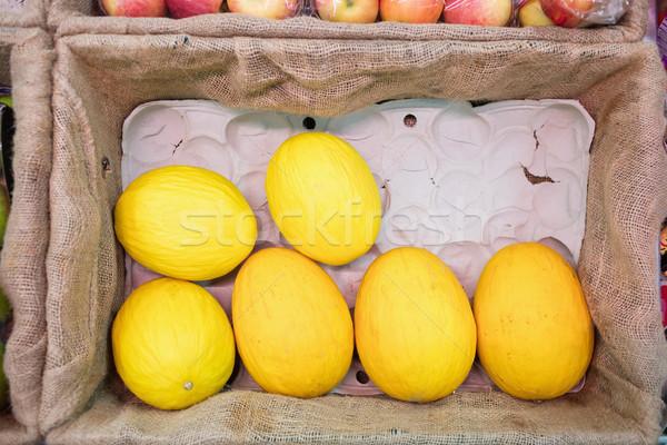 Sarı kavun bakkal alışveriş iş Stok fotoğraf © wavebreak_media