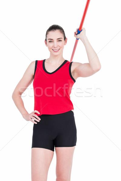 Női atléta dob nő test testmozgás Stock fotó © wavebreak_media