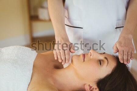 女性 耳 キャンドル 治療 マッサージ師 若い女性 ストックフォト © wavebreak_media