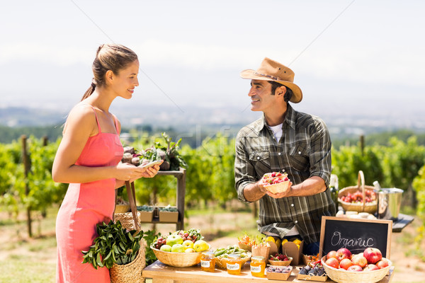 Farmer selling his organic produce to customer Stock photo © wavebreak_media