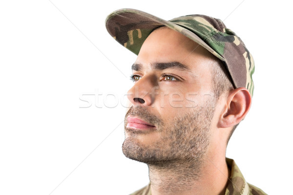 Vertrauen Soldat weiß Mann glücklich Stock foto © wavebreak_media