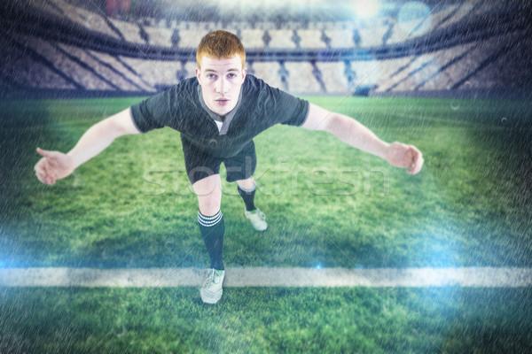 Afbeelding rugby speler tegenstander toonhoogte Stockfoto © wavebreak_media