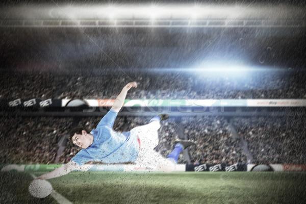 összetett kép rögbi játékos stadion férfi Stock fotó © wavebreak_media
