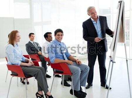 Senior businessman giving a conference Stock photo © wavebreak_media