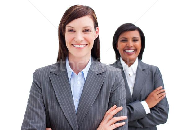 Deux séduisant affaires femmes blanche sourire Photo stock © wavebreak_media