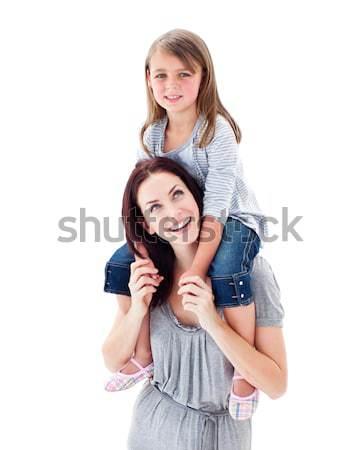 харизматический матери дочь комбинированный детей счастливым Сток-фото © wavebreak_media
