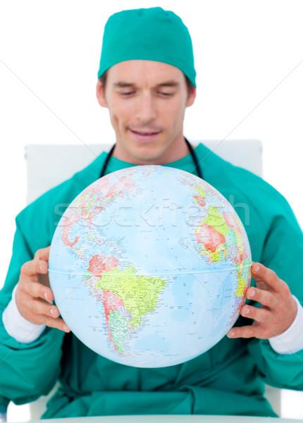 Encantador médico globo branco mundo Foto stock © wavebreak_media