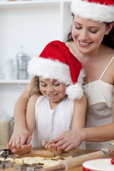 матери девочку Рождества торты кухне Сток-фото © wavebreak_media