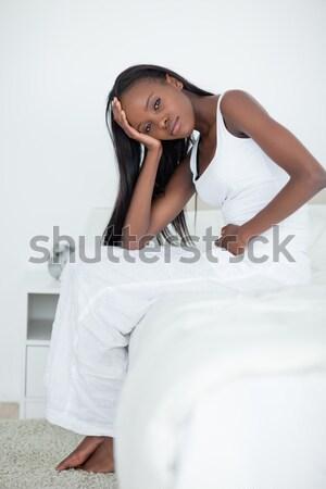 Kadın yatak çekici genç yüz seksi Stok fotoğraf © wavebreak_media