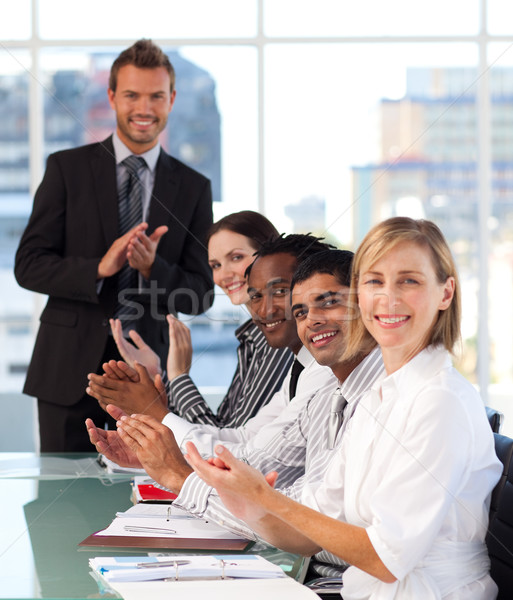 Business team clapping in a meeting Stock photo © wavebreak_media