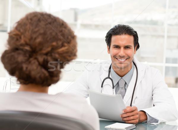 ヒスパニック 医師 任命 患者 病院 ストックフォト © wavebreak_media