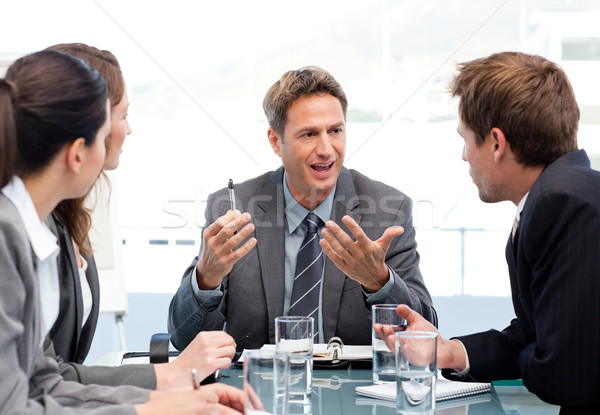 Charismatic chairman talking with his team during a meeting Stock photo © wavebreak_media