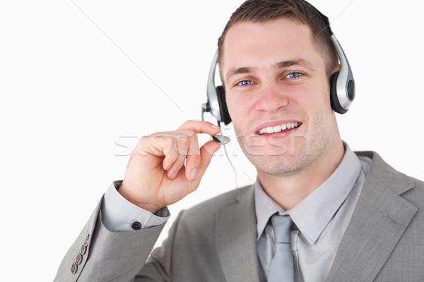 Lächelnd Betreiber Headset weiß Gesicht glücklich Stock foto © wavebreak_media
