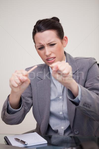 Young businesswoman just broke her pencil Stock photo © wavebreak_media