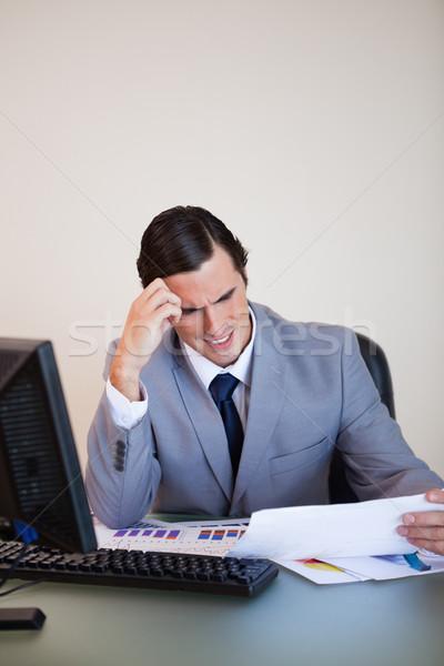 Młodych biznesmen głowy patrząc formalności działalności Zdjęcia stock © wavebreak_media