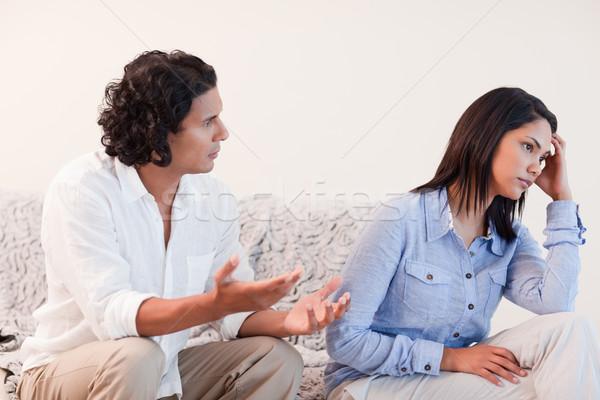 Fiatalember barátnő szeretet pár düh együtt Stock fotó © wavebreak_media