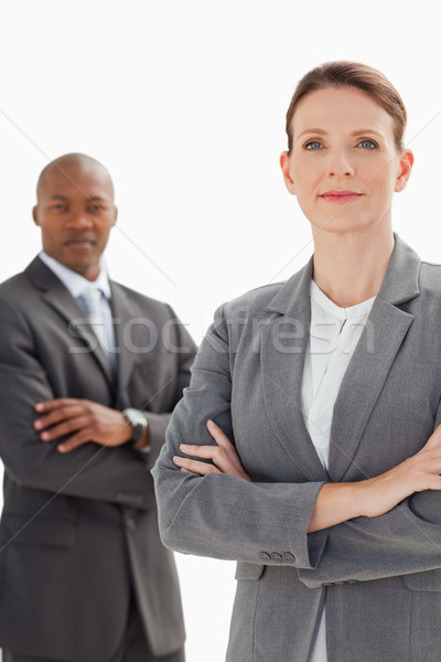 деловые люди позируют рук заседание счастливым Сток-фото © wavebreak_media