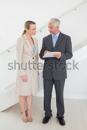 Portrait of business team back to back against white background Stock photo © wavebreak_media