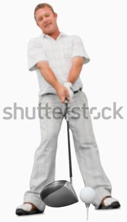 гольфист Swing белый спорт клуба играть Сток-фото © wavebreak_media