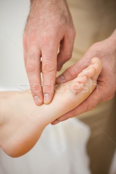Kettő ujjak izmok láb bent orvosi Stock fotó © wavebreak_media