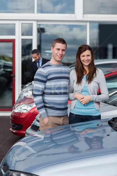 Couple choosing a car in a dealership Stock photo © wavebreak_media