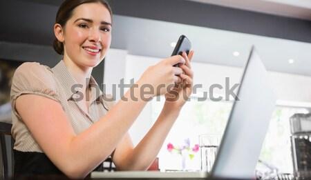 Portre genç kadın mutlu kadın Stok fotoğraf © wavebreak_media