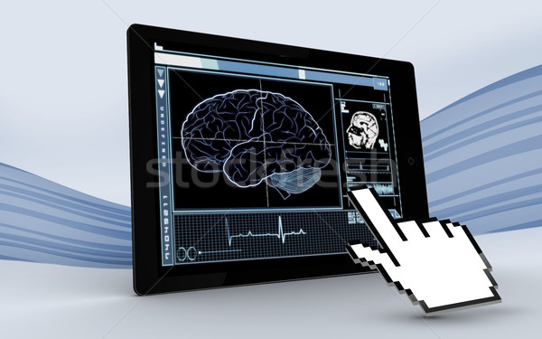 Cursor indicação comprimido cérebro interface Foto stock © wavebreak_media