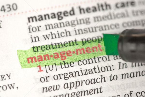 Stock photo: Management definition highlighted in green