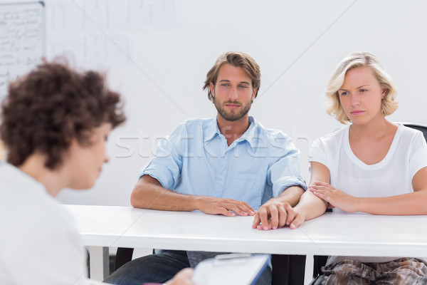 Therapist trying to help a couple Stock photo © wavebreak_media
