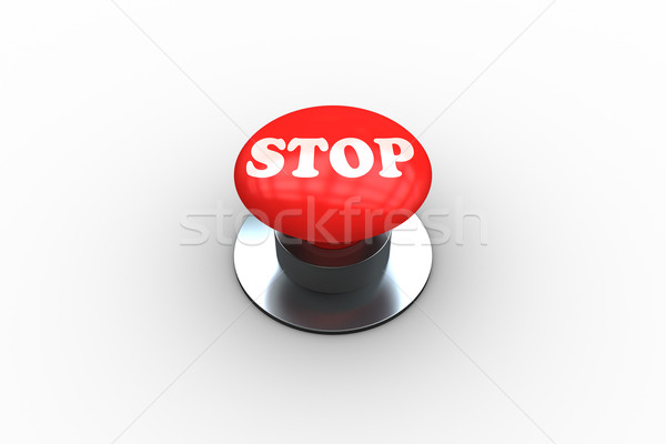 Parada digitalmente generado rojo botón Foto stock © wavebreak_media
