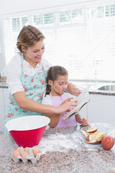 Mãe filha juntos casa cozinha Foto stock © wavebreak_media