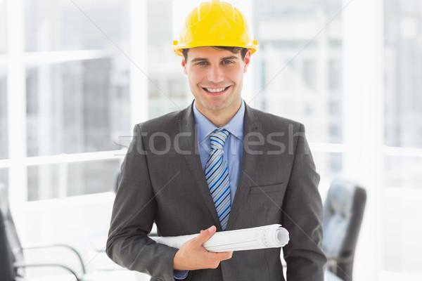 幸せ 建築 青写真 笑みを浮かべて カメラ ストックフォト © wavebreak_media