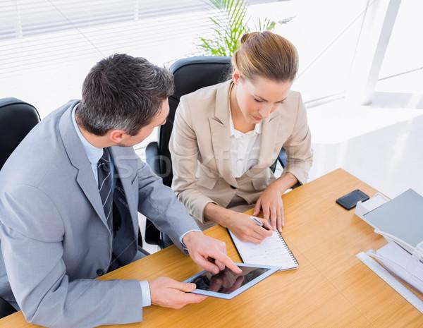Collègues réunion d'affaires jeune homme femme homme Photo stock © wavebreak_media